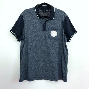 3 for $25 Armani Exchange Navy Stand Polo Button